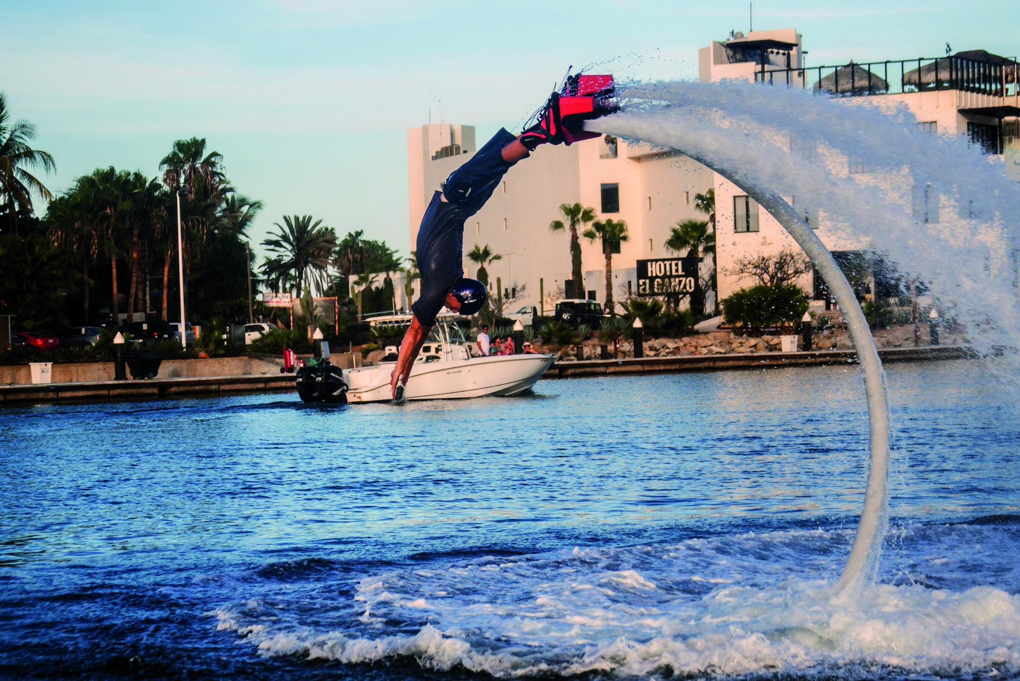 Back dives on a FlyBoard